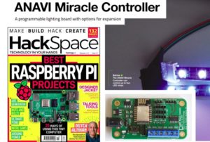 HackSpace Magazine Covered ANAVI Miracle Controller