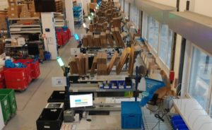 Wing warehouse with Andon manufacturing using ANAVI Light Controller