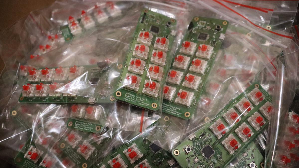 ANAVI Macro Pad 8 Manufacturing Progress